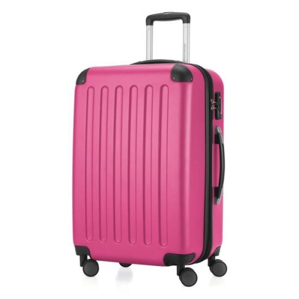 Chariot Compact Tige: Valise Voyage Avec Disque 10 Rose