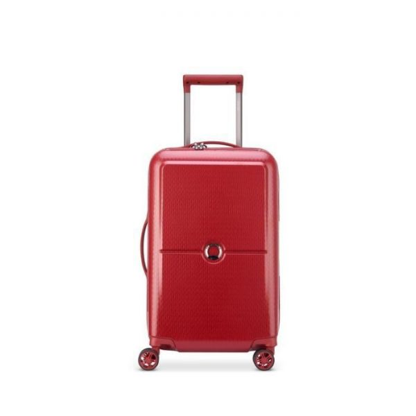 Delsey Valise Rigide Cabine 4 Roues 55cm 44 Litr Rouge