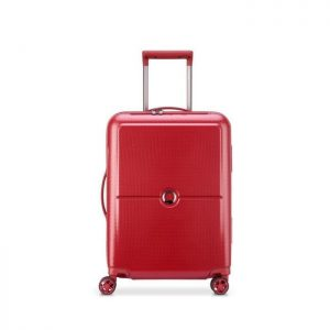 Delsey Valise Rigide Taille Cabine Slim 4 Roues Rouge