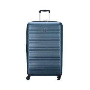 Delsey Valise Rigide Taille Xxl 81cm 4 Roues 108 Bleu