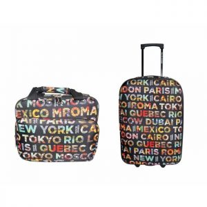 Ensemble De Bagages Valise Et Vanity David Jones B