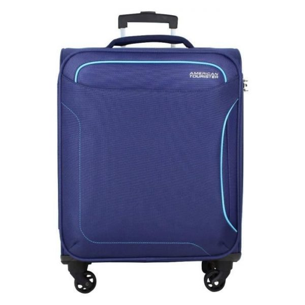 Valise Cabine 4 Roues Toile American Tourister Hol Bleu Fonce