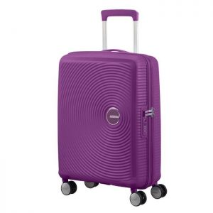 Valise Cabine Extensible Tsa American Tourister So Purple Orchid Argent