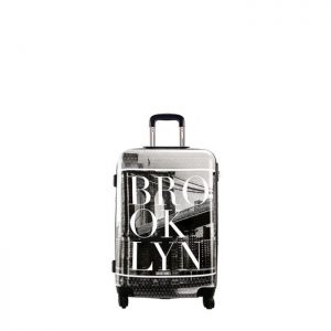 Valise Cabine Rigide Brooklyn 55 Cm Noir Noir Brooklyn