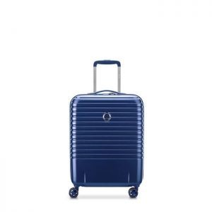 Valise Cabine Rigide Caumartin Plus Slim 55 Cm 22 Bleu Acier