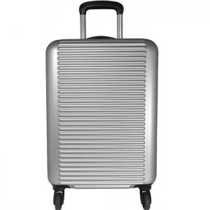 Valise Cabine Rigide David Jones 55 Cm Extensible Argent