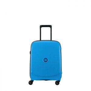 Valise Cabine Rigide Slim Belmont Plus 55 Cm 22 Bl Bleu Metallique