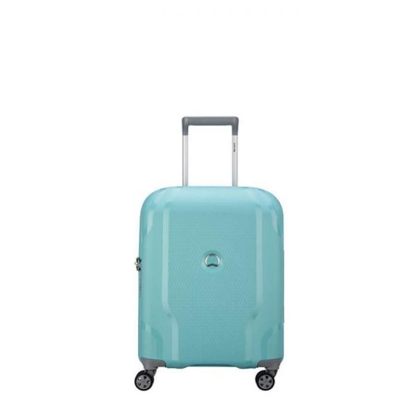 Valise Cabine Rigide Slim Clavel 55 Cm 22 Bleu Ver Bleu Vert