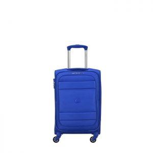 Valise Cabine Souple Indiscrete 4 Roues 56 Cm 12 B Bleu