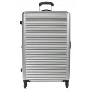 Valise Rigide David Jones Abs 78.50 Cm Extensible Argent