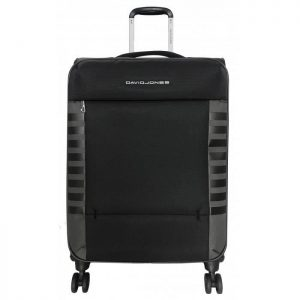 Valise Souple Extensible David Jones 66 Cm Tsa Noi Noir