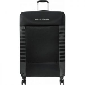 Valise Souple Extensible David Jones 79 Cm Tsa Noi Noir